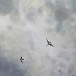 Two Swallows painting